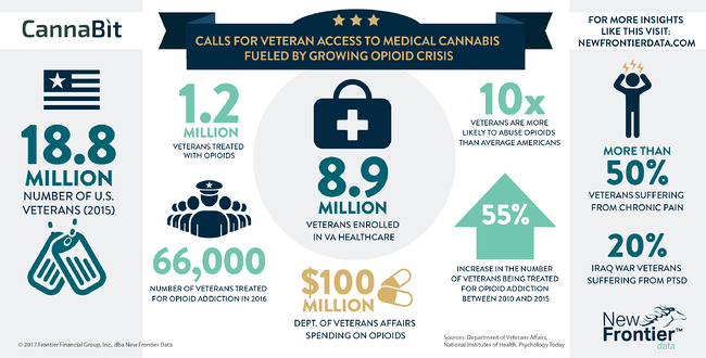 Cannabit: Calls for Veteran Access to Medical Cannabis Fueled by Growing Opioid Crisis / 07302017